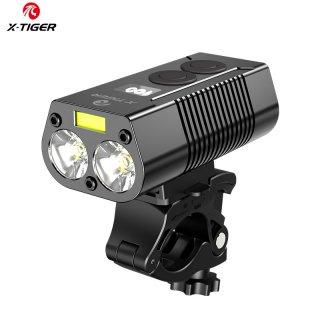X-Tiger Lampu Depan Lampu Sepeda Power Bank Senter Isi Ulang USB