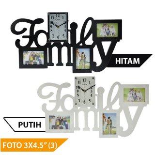 "Jam Dinding M3211A ""Family"" 12x16.5 cm"