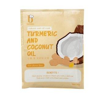 Bielskin Turmeric Coconut Oil Natural Wash Off Masker Wajah for Acne Skin