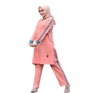 BMS 22 Peach | Pakaian Olahraga Muslim