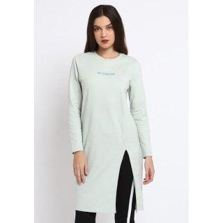 Osella Baju Perempuan Tunic Hijau Polos