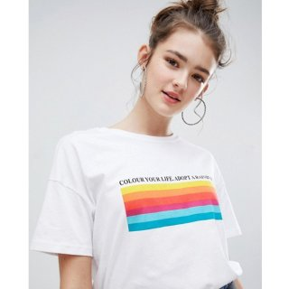 Tumblr Tee / T-Shirt / Kaos Wanita Lengan Pendek Colour Your Life
