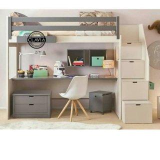 Ranjang Susun Multifungsi Custome Multi Purpose Loft Bed With Stair