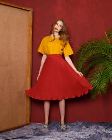 Schoncouture Kaori Pleated Skirt