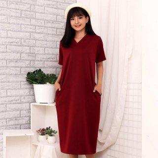 Model Long V-Neck Dress