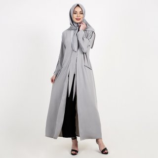 Queensland Long Outer With List Detail B10065Q Grey