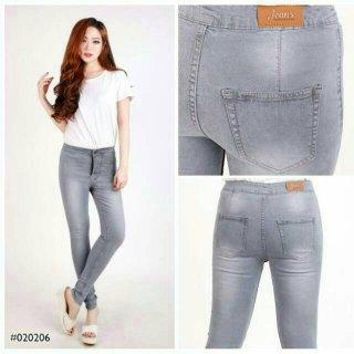 Celana Jeans Wanita Warna Abu