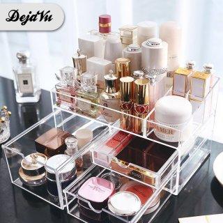 Dejavu Kotak Make Up Acrylic Rak Kosmetik Organizer Rak Serbaguna Storage Box Cosmetic HRM302