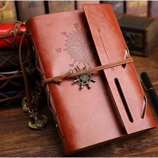 Replaceable Buku Catatan Binder Kulit Retro Pirate