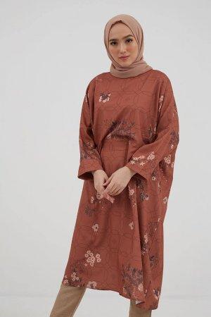Hijabenka Lubna Tunic Terracotta