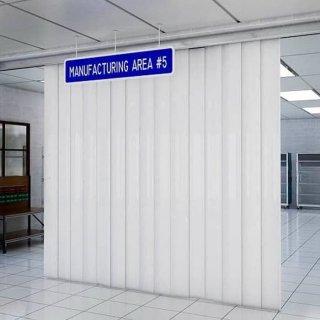 Set Custom Pintu 270 cm x 250 cm Tirai PVC Putih Susu