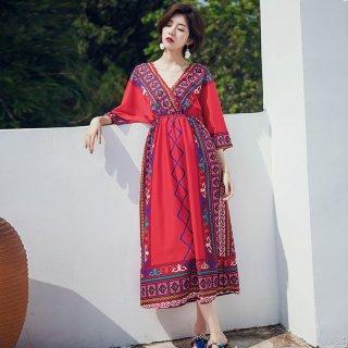 Model Bohemian Dress