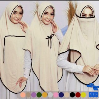 Jilbab Instan Niqab Sharmila Jilbab Ayana Cadar Jersey Jilbab 3 in 1