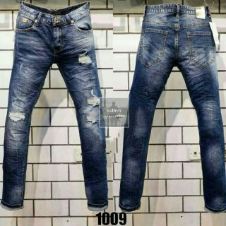 Celana Jeans Sobek/Ripped Guess