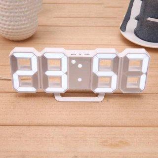 Jam Meja LED Alarm Digital Clock Modern Unik