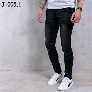 J-005 Skinny Black Washed Whisker Brown