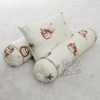 Little Lion Infant Pillow and Bolster Set Printed Cotton