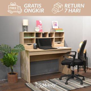 Furniture Meja Belajar Meja Kerja ALBION desk sonoma
