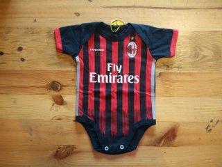 Baju Kaos Bola Bayi Anak Perempuan Laki Lucu I AC Milan Home