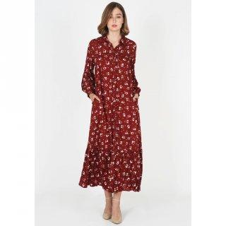 LeRosetz - Dress Wanita   Gamis Motif Bunga