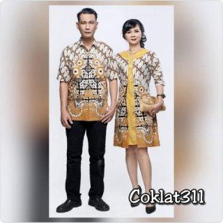 Baju Couple Batik 311 Sarimbit Pria Wanita Dress
