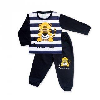 WakaKids Baju Tidur Bayi Laki Laki Piyama Anak Tiger All Size Usia 12 - 18 bulan 3013