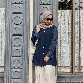 Vanilla Hijab Diane Blouse