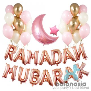 Balonasia Dekorasi Lebaran/Ramadan Rosegold