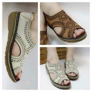 Sepatu Sandal Wanita Kulit Laser Bm14