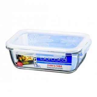 Lock&Lock Food Container Heat Resistant Rectangular Boroseal 1.35L