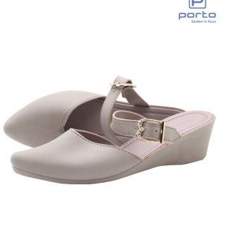 Porto - Sepatu Wedges Wanita Casual Tali Nyaman