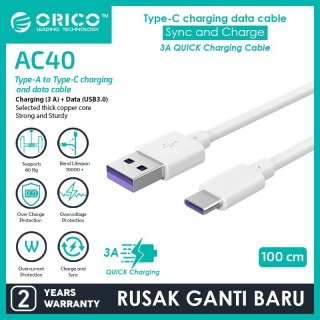 Orico AC40-10 Type-C Quick Charge Data Cable