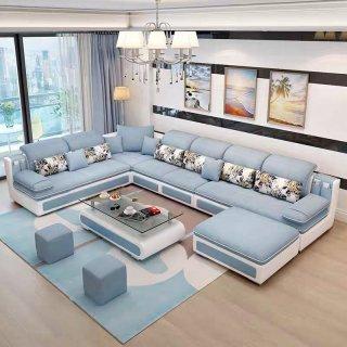 Sofa Ruang Tamu Letter U Minimalis