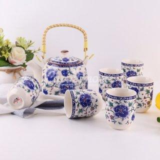 Tea Set Keramik Jepang Capodimonte isi 8 pcs ABFF6