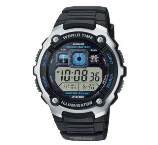 Casio Standard Black Resin Band - AE-2000W-1AVDF