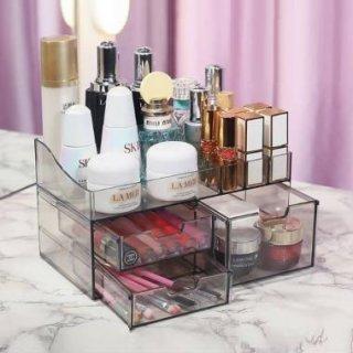 Beauty Case / Tempat Make Up Kotak Kosmetik Storage Organizer Tempat Penyimpanan Telus BCLIC