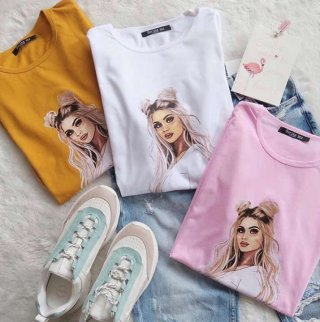 8Teen - Kaos Wanita Princess Bahan Cotton T-Shirt Wanita Tumblr Tee
