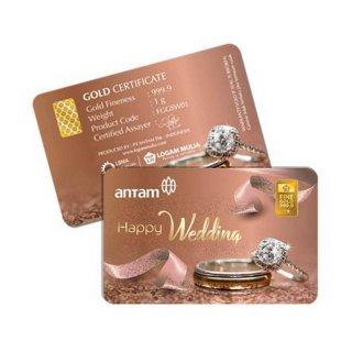Antam Gift Series Logam Mulia [1 g/ Happy Wedding Gold]