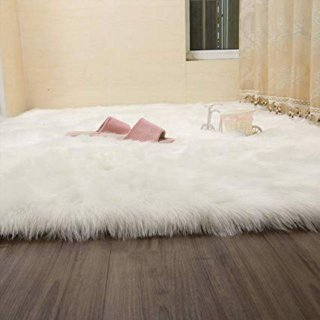 Karpet Bulu Korea Russian Fur White