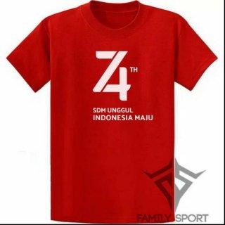 Kaos 17 Agustus 74 Tahun Indonesia Merdeka Official Logo