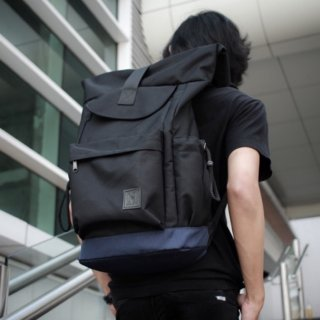 Harloth Rusell Black Backpack/Rucksack