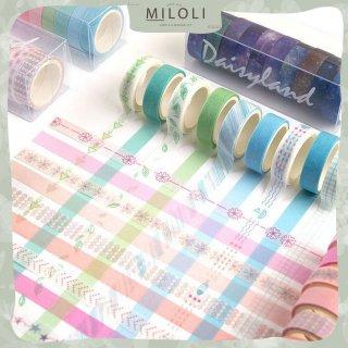10 Rolls Daisyland Pattern Mini Washi Tape Deco Masking Tape