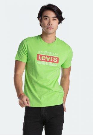 Levi's Graphic Crewneck Tee Logo Overlay Jasmine Green (22491-0608)