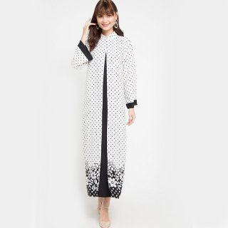 KORZ Gamis Double Layer Button Front Gamis Muslim