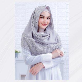 Hijab Instant Hoodie Ceruti Variasi Renda Prada