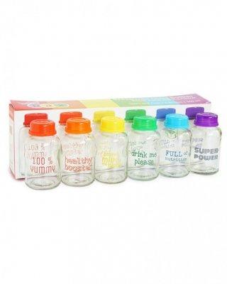 BabyPax Breast Milk Glass Bottle Rainbow