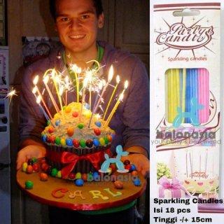 Balonasia Lilin Ulang Tahun Sparkling
