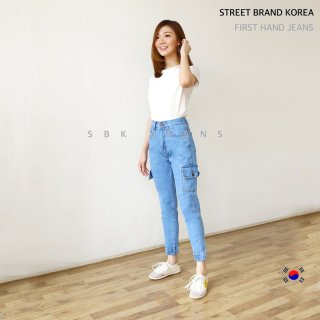 SBK Highwaist Jogger Cargo Jeans Wanita