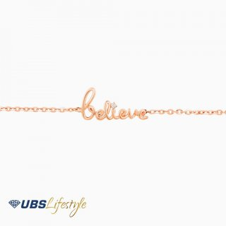 "UBS Gelang Emas Linea Wish ""Believe"" - Ksg0763"