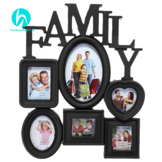 Family Photo Frame Wall Hanging 6 Multi-Sized Pictures